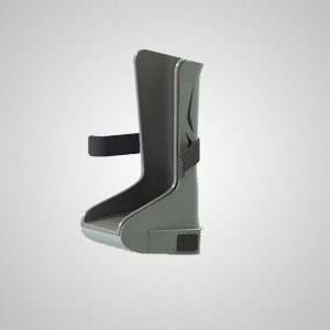 GStirrup front view that slip easily over the heel cup supports of nearly all existing exam tables.